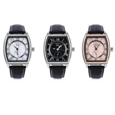 Forsining F2017051701 Men Auto Mechanical WatchMens Watches<br>Forsining F2017051701 Men Auto Mechanical Watch<br><br>Band material: Genuine Leather<br>Band size: 24.00 x 2.00 cm / 9.45 x 0.78 inches<br>Brand: Forsining<br>Case material: Alloy<br>Clasp type: Pin buckle<br>Dial size: 3.70 x 4.00 x 1.10 cm / 9.45 x 1.57 x 0.55 inches<br>Display type: Analog<br>Movement type: Automatic mechanical watch<br>Package Contents: 1 x Forsining F2017051701 Men Auto Mechanical Watch<br>Package size (L x W x H): 26.00 x 5.00 x 3.00 cm / 10.24 x 1.97 x 1.18 inches<br>Package weight: 0.1300 kg<br>Product size (L x W x H): 24.00 x 3.70 x 1.10 cm / 9.45 x 1.46 x 0.43 inches<br>Product weight: 0.1000 kg<br>Shape of the dial: Arch<br>Special features: Tourbillon, Date<br>Watch style: Casual<br>Watches categories: Male table<br>Wearable length: 17.50 - 22.00 cm / 6.88 - 8.66 inches
