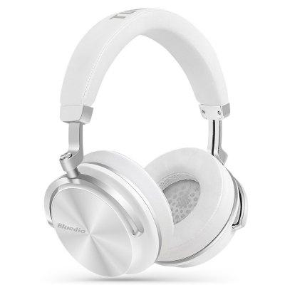 Bluedio T4 Portable Bluetooth HeadphonesEarbud Headphones<br>Bluedio T4 Portable Bluetooth Headphones<br><br>Application: Working, Running, Sport, Gaming<br>Battery Capacity(mAh): Built-in 650mAh Li-ion Battery<br>Bluetooth: Yes<br>Bluetooth distance: W/O obstacles 10m<br>Bluetooth mode: Headset<br>Bluetooth protocol: A2DP,AVRCP,HFP,HSP<br>Bluetooth Version: V4.2<br>Brand: Bluedio<br>Charging Time.: 1.5H<br>Compatible with: iPhone, iPod, Mobile phone<br>Connecting interface: 3.5mm, Type-C<br>Connectivity: Wireless<br>Driver unit: 57mm<br>Frequency response: 15~25000Hz<br>Function: Microphone, Voice control, Voice Prompt, Noise Cancelling, Song Switching, Answering Phone, Bluetooth<br>Impedance: 16ohms<br>Language: Chinese,English,French,Spanish<br>Material: Metal<br>Model: T4<br>Music Time: 16H<br>Package Contents: 1 x Bluedio T4 Headphones, 1 x Type-C Cable ( 1m ), 1 x Type-C to 3.5mm Cable ( 1m ), 1 x Cloth Storage Bag<br>Package size (L x W x H): 21.00 x 25.00 x 8.00 cm / 8.27 x 9.84 x 3.15 inches<br>Package weight: 0.9660 kg<br>Product size (L x W x H): 18.00 x 20.80 x 9.00 cm / 7.09 x 8.19 x 3.54 inches<br>Product weight: 0.3340 kg<br>Sensitivity: 116dB<br>Standby time: 650H<br>Talk time: 16H<br>Type: Over-ear<br>Wearing type: Headband