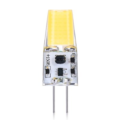 10pcs G4 2W 1 x SMD1508 COB LED Light BulbCorn Bulbs<br>10pcs G4 2W 1 x SMD1508 COB LED Light Bulb<br><br>Available Light Color: Cool White<br>CCT/Wavelength: 6000-6500K<br>Emitter Types: SMD 1508<br>Features: Long Life Expectancy, Low Power Consumption<br>Function: public places, Outdoor lighting, Home Lighting,  playing fields,  stage lighting,  including building and landscape beautification, Commercial Lighting<br>Holder: G4<br>Luminous Flux: 240Lm<br>Output Power: 2W<br>Package Contents: 10 x G4 LED Light<br>Package size (L x W x H): 10.00 x 9.00 x 2.60 cm / 3.94 x 3.54 x 1.02 inches<br>Package weight: 0.0500 kg<br>Product size (L x W x H): 3.80 x 1.30 x 0.90 cm / 1.5 x 0.51 x 0.35 inches<br>Product weight: 0.0300 kg<br>Sheathing Material: Aluminum, PC<br>Total Emitters: 1<br>Type: Mini Bulb<br>Voltage (V): AC/DC 12V<br>Wattage Range: ?5W