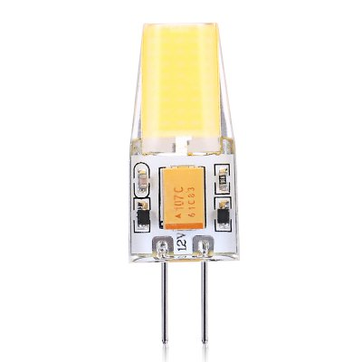 10pcs G4 2W 1 x SMD1508 COB LED Light BulbCorn Bulbs<br>10pcs G4 2W 1 x SMD1508 COB LED Light Bulb<br><br>Available Light Color: Warm White<br>CCT/Wavelength: 3000-3500K<br>Emitter Types: SMD 1508<br>Features: Long Life Expectancy, Low Power Consumption<br>Function: public places, Outdoor lighting, Home Lighting,  playing fields,  stage lighting,  including building and landscape beautification, Commercial Lighting<br>Holder: G4<br>Luminous Flux: 240Lm<br>Output Power: 2W<br>Package Contents: 10 x G4 LED Light<br>Package size (L x W x H): 10.00 x 9.00 x 2.60 cm / 3.94 x 3.54 x 1.02 inches<br>Package weight: 0.0500 kg<br>Product size (L x W x H): 3.80 x 1.30 x 0.90 cm / 1.5 x 0.51 x 0.35 inches<br>Product weight: 0.0300 kg<br>Sheathing Material: Aluminum, PC<br>Total Emitters: 1<br>Type: Mini Bulb<br>Voltage (V): AC/DC 12V<br>Wattage Range: ?5W