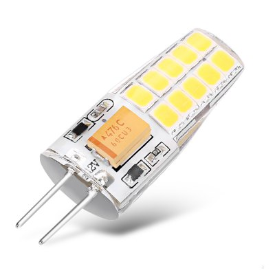 2.5W G4 10 x SMD2835 LED Corn Capsule Bulb - 10pcsCorn Bulbs<br>2.5W G4 10 x SMD2835 LED Corn Capsule Bulb - 10pcs<br><br>Available Light Color: Warm White<br>CCT/Wavelength: 3000-3500K<br>Emitter Types: SMD 2835<br>Features: Low Power Consumption, Long Life Expectancy<br>Function: Home Lighting, Commercial Lighting<br>Holder: G4<br>Lifespan: 15000h<br>Luminous Flux: 280 - 300Lm<br>Package Contents: 10 x G4 LED Corn Light<br>Package size (L x W x H): 9.00 x 8.00 x 1.60 cm / 3.54 x 3.15 x 0.63 inches<br>Package weight: 0.0700 kg<br>Product size (L x W x H): 3.70 x 1.30 x 9.00 cm / 1.46 x 0.51 x 3.54 inches<br>Product weight: 0.0300 kg<br>Sheathing Material: Aluminum, PC<br>Total Emitters: 20<br>Type: Corn Bulbs<br>Voltage (V): AC/DC 12V<br>Wattage Range: ?5W