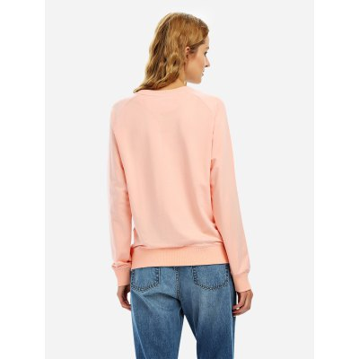 ZANSTYLE Women Pink Loose SweatshirttSweatshirts &amp; Hoodies<br>ZANSTYLE Women Pink Loose Sweatshirtt<br>