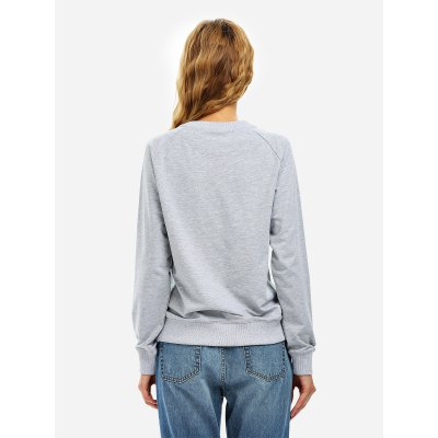 ZANSTYLE Women Gray Loose SweatshirtSweatshirts &amp; Hoodies<br>ZANSTYLE Women Gray Loose Sweatshirt<br>