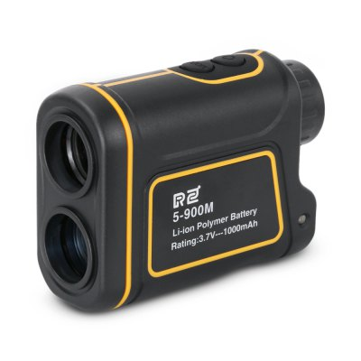 RZ RZ900S 5 - 900m Laser Monocular Range / Angle FinderLaser Rangefinder, Electronic Distance Meter<br>RZ RZ900S 5 - 900m Laser Monocular Range / Angle Finder<br><br>Battery Current: 1000mAh<br>Battery Type: Lithium<br>Battery Voltage: 3.7V<br>Brand: RZ<br>Certificate: CE,FCC,RoHs<br>Color: Black and Orange<br>Diopter Adjustable Range: + / -3 degree<br>Eyepiece Diameter: 16mm<br>Laser Wavelength: 905nm<br>Magnification: 8x<br>Measuring Unit: Meter,Yard<br>Model: RZ900S<br>Objective Diameter: 25mm<br>Package Contents: 1 x Rangefinder, 1 x English User Manual, 1 x Pouch, 1 x Hand Strap, 1 x USB Cable ( length: 80cm ), 1 x Cloth<br>Package size (L x W x H): 17.50 x 13.50 x 6.50 cm / 6.89 x 5.31 x 2.56 inches<br>Package weight: 0.3730 kg<br>Product size (L x W x H): 10.40 x 7.65 x 4.10 cm / 4.09 x 3.01 x 1.61 inches<br>Product weight: 0.2000 kg