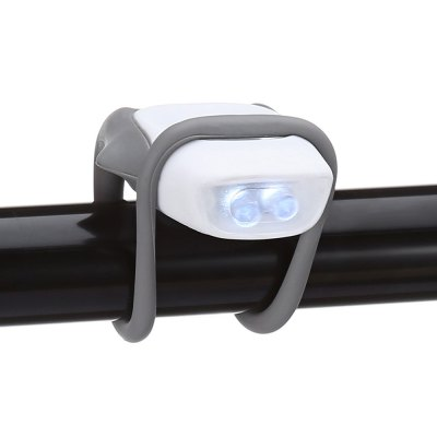 Water-resistant Silicone Bicycle Front Light Safety LED LampBike Lights<br>Water-resistant Silicone Bicycle Front Light Safety LED Lamp<br><br>Features: Superbright, Easy to Install<br>Package Contents: 1 x Bicycle Front Light<br>Package Dimension: 11.00 x 5.00 x 3.00 cm / 4.33 x 1.97 x 1.18 inches<br>Package weight: 0.0450 kg<br>Product Dimension: 4.50 x 4.00 x 1.50 cm / 1.77 x 1.57 x 0.59 inches<br>Product weight: 0.0170 kg<br>Suitable for: Touring Bicycle, Road Bike, Motorcycle<br>Type: Front Light