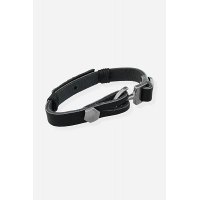 Korean Stylish Punk BangleBracelets &amp; Bangles<br>Korean Stylish Punk Bangle<br><br>Color: Black<br>Gender: Unisex<br>Jewelry Silhouette: Bangle<br>Material: Leather<br>Occasions: Casual, Gift, Party, Performance, Personalized Photo<br>Package Contents: 1 x Bracelet<br>Package size (L x W x H): 8.80 x 8.80 x 2.00 cm / 3.46 x 3.46 x 0.79 inches<br>Package weight: 0.0670 kg<br>Product weight: 0.0200 kg<br>Style: Punk, Fashion