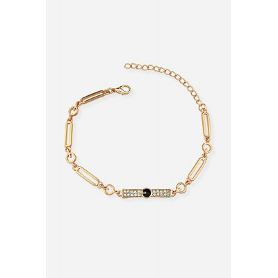 Fashionable Diamonds Embedded BraceletBracelets &amp; Bangles<br>Fashionable Diamonds Embedded Bracelet<br><br>Color: Gold<br>Gender: Woman<br>Material: Alloy<br>Occasions: Casual, Personalized Photo, Performance, Party, Gift<br>Package Contents: 1 x Bracelet<br>Package size (L x W x H): 8.80 x 8.80 x 2.00 cm / 3.46 x 3.46 x 0.79 inches<br>Package weight: 0.0360 kg<br>Product weight: 0.0090 kg<br>Style: Fashion