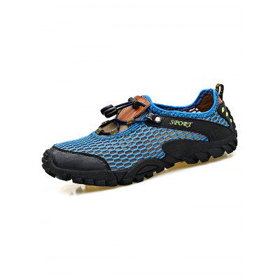 Outdoor Climbing Breathable Mesh Men Sports ShoesHiking Shoes<br>Outdoor Climbing Breathable Mesh Men Sports Shoes<br><br>Features: Anti-slip, Breathable, Lightweight<br>Highlights: Breathable<br>Package Contents: 1 x Pair of Shoes<br>Package size: 33.00 x 22.00 x 11.00 cm / 12.99 x 8.66 x 4.33 inches<br>Package weight: 0.9800 kg<br>Product weight: 0.8000 kg<br>Season: Summer<br>Sole Material: Rubber