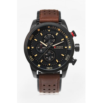 CURREN 8250 Casual Men Quartz WatchMens Watches<br>CURREN 8250 Casual Men Quartz Watch<br><br>Available Color: Brown,Orange,Red<br>Band material: Leather<br>Band size: 27 x 2.4 cm / 10.63 x 0.95 inches<br>Brand: Curren<br>Case material: Stainless Steel<br>Clasp type: Pin buckle<br>Dial size: 4.8 x 4.8 x 1.8 cm / 1.89 x 1.89 x 0.71 inches<br>Display type: Analog<br>Movement type: Quartz watch<br>Package Contents: 1 x CURREN 8250 Casual Men Quartz Watch, 1 x Box<br>Package size (L x W x H): 11.30 x 8.30 x 6.80 cm / 4.45 x 3.27 x 2.68 inches<br>Package weight: 0.2140 kg<br>Product size (L x W x H): 27.00 x 4.80 x 1.80 cm / 10.63 x 1.89 x 0.71 inches<br>Product weight: 0.0840 kg<br>Shape of the dial: Round<br>Watch style: Casual<br>Watches categories: Male table<br>Wearable length: 19.7 - 24.6 cm / 7.76 - 9.69 inches