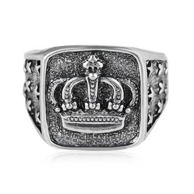 Alloy Crown Square RingRings<br>Alloy Crown Square Ring<br><br>Color: Silver<br>Occasions: Casual, Party<br>Package Contents: 1 x Finger Ring<br>Package size (L x W x H): 5.00 x 5.00 x 1.00 cm / 1.97 x 1.97 x 0.39 inches<br>Package weight: 0.0050 kg<br>Product weight: 0.0050 kg<br>Size: 10#<br>Style: Fashion