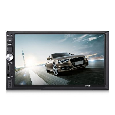 OMV 7012B Car 7.0 inch 1080P HD MP5 PlayerFM Transmitters &amp; Players<br>OMV 7012B Car 7.0 inch 1080P HD MP5 Player<br><br>Bluetooth Version: 2.0<br>Brand: OMV<br>Connection: Wireless, Wired, USB 2.0, Bluetooth<br>FM Channel: 87.5 - 108MHz ( Europe )<br>Interface: AUX, USB 2.0<br>Language: English,French,German,Italian,Portuguese,Russian,Spanish<br>Micro SD/TF Card Expansion (Max.): 32GB ( Not Included )<br>Model: 7012B<br>Package Contents: 1 x MP5 Player, 1 x Remote Controller, 2 x Power Cable, 1 x English Manual<br>Package size (L x W x H): 22.00 x 16.00 x 12.00 cm / 8.66 x 6.3 x 4.72 inches<br>Package weight: 0.7300 kg<br>Product size (L x W x H): 17.80 x 10.20 x 70.00 cm / 7.01 x 4.02 x 27.56 inches<br>Product weight: 0.5020 kg<br>Screen resolution: 1920?1080<br>Screen size: 7inch<br>SNR (dB): More Than 50dB<br>U-Disk Expansion (Max.): 32GB ( Not Included )<br>Working Tempreture (Deg.): -25 - 65 Deg.C