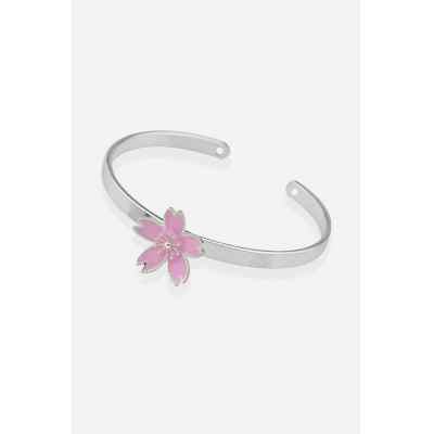 Alloy Open Cuff Flower BraceletBracelets &amp; Bangles<br>Alloy Open Cuff Flower Bracelet<br><br>Color: Silver<br>Gender: Woman<br>Jewelry Silhouette: Bangle,Flower<br>Occasions: Casual, Party, Gift<br>Package Contents: 1 x Bracelet<br>Package size (L x W x H): 8.80 x 8.80 x 2.00 cm / 3.46 x 3.46 x 0.79 inches<br>Package weight: 0.0560 kg<br>Product weight: 0.0090 kg<br>Style: Fashion