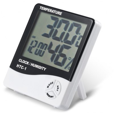 HTC - 1 Indoor LCD Electronic Temperature Humidity Meter