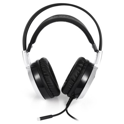 SOMIC G951 Smart Vibration Stereo Gaming HeadphoneEarbud Headphones<br>SOMIC G951 Smart Vibration Stereo Gaming Headphone<br><br>Bluetooth: No<br>Brand: Somic<br>Color: White<br>Compatible with: Computer<br>Connecting interface: Micro USB<br>Connectivity: Wired<br>FM radio: No<br>Frequency response: 20~20KHz<br>Function: Noise Cancelling, Microphone, Voice control, Vibration, Song Switching<br>Impedance: 32ohms<br>Language: No<br>Material: Plastic<br>Model: G951<br>Package Contents: 1 x Headphone<br>Package size (L x W x H): 25.00 x 23.00 x 10.50 cm / 9.84 x 9.06 x 4.13 inches<br>Package weight: 0.6980 kg<br>Plug Type: USB<br>Product size (L x W x H): 22.50 x 18.50 x 9.70 cm / 8.86 x 7.28 x 3.82 inches<br>Product weight: 0.3900 kg<br>Sensitivity: 103±3dB<br>Type: Over-ear<br>WIFI: No