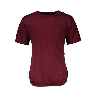 Pure Color Side Slit Men Long T ShirtsMens Short Sleeve Tees<br>Pure Color Side Slit Men Long T Shirts<br><br>Material: Cotton<br>Neckline: Round Neck<br>Package Content: 1 x T Shirt<br>Package size: 40.00 x 30.00 x 2.00 cm / 15.75 x 11.81 x 0.79 inches<br>Package weight: 0.2700 kg<br>Pattern Type: Solid<br>Product weight: 0.2100 kg<br>Season: Winter, Summer, Spring, Autumn<br>Sleeve Length: Short Sleeves<br>Style: Casual