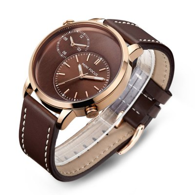 MINIFOCUS MF0035G Quartz Watch for MenMens Watches<br>MINIFOCUS MF0035G Quartz Watch for Men<br><br>Band material: Genuine Leather<br>Band size: 24.50 x 2.20 cm / 9.65 x 0.86 inches<br>Brand: MINI FOCUS<br>Case material: Alloy<br>Clasp type: Pin buckle<br>Dial size: 4.60 x 4.60 x 1.20 cm / 1.81 x 1.81 x 0.47 inches<br>Display type: Analog<br>Movement type: Quartz watch<br>Package Contents: 1 x MINIFOCUS Male Quartz Watch<br>Package size (L x W x H): 26.00 x 6.40 x 2.20 cm / 10.24 x 2.52 x 0.87 inches<br>Package weight: 0.0950 kg<br>Product size (L x W x H): 24.50 x 4.60 x 1.20 cm / 9.65 x 1.81 x 0.47 inches<br>Product weight: 0.0650 kg<br>Shape of the dial: Round<br>Watch mirror: Mineral glass<br>Watch style: Fashion<br>Watches categories: Male table<br>Water resistance : Life water resistant<br>Wearable length: 16.00 - 22.00 cm / 6.29 - 8.66 inches