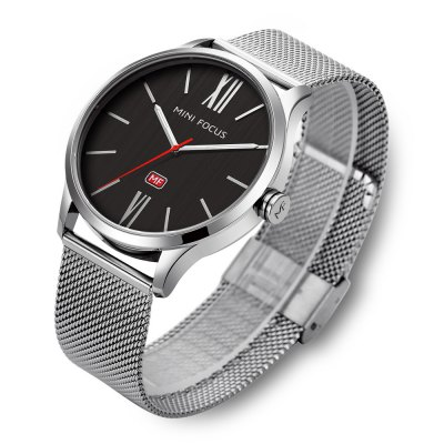 MINIFOCUS MF0018G Quartz Watch for MenMens Watches<br>MINIFOCUS MF0018G Quartz Watch for Men<br><br>Band material: Steel<br>Band size: 22.00 x 2.00 cm / 8.66 x 0.78 inches<br>Brand: MINI FOCUS<br>Case material: Alloy<br>Clasp type: Hook buckle<br>Dial size: 4.30 x 4.30 x 0.90 cm / 1.69 x 1.69 x 0.35 inches<br>Display type: Analog<br>Movement type: Quartz watch<br>Package Contents: 1 x MINIFOCUS Male Quartz Watch<br>Package size (L x W x H): 24.00 x 5.50 x 2.00 cm / 9.45 x 2.17 x 0.79 inches<br>Package weight: 0.1000 kg<br>Product size (L x W x H): 22.00 x 4.30 x 0.90 cm / 8.66 x 1.69 x 0.35 inches<br>Product weight: 0.0700 kg<br>Shape of the dial: Round<br>Watch style: Fashion<br>Watches categories: Male table<br>Water resistance : Life water resistant
