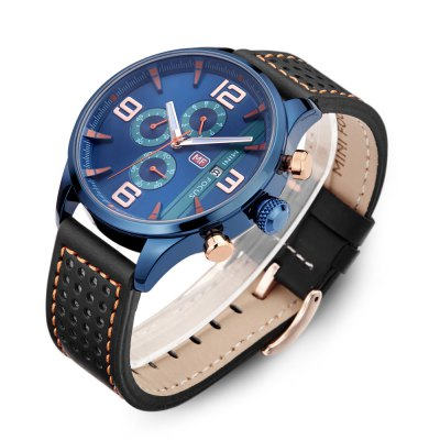 MINIFOCUS MF0016G Quartz Watch for MenMens Watches<br>MINIFOCUS MF0016G Quartz Watch for Men<br><br>Band material: Genuine Leather<br>Band size: 24.50 x 2.20 cm / 9.65 x 0.86 inches<br>Brand: MINI FOCUS<br>Case material: Alloy<br>Clasp type: Pin buckle<br>Dial size: 4.50 x 4.50 x 1.10 cm / 1.77 x 1.77 x 0.43 inches<br>Display type: Analog<br>Movement type: Quartz watch<br>Package Contents: 1 x MINIFOCUS Male Quartz Watch<br>Package size (L x W x H): 26.00 x 5.50 x 3.00 cm / 10.24 x 2.17 x 1.18 inches<br>Package weight: 0.0990 kg<br>Product size (L x W x H): 24.50 x 4.50 x 1.10 cm / 9.65 x 1.77 x 0.43 inches<br>Product weight: 0.0690 kg<br>Shape of the dial: Round<br>Watch style: Fashion<br>Watches categories: Male table<br>Water resistance : Life water resistant<br>Wearable length: 16.00 - 20.00 cm / 6.29 - 7.87 inches