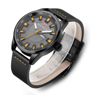 MINIFOCUS MF0027G Men Quartz WatchMens Watches<br>MINIFOCUS MF0027G Men Quartz Watch<br><br>Band material: Genuine Leather<br>Band size: 22.50 x 2.20 cm / 8.86 x 0.86 inches<br>Brand: MINI FOCUS<br>Case material: Alloy<br>Clasp type: Pin buckle<br>Dial size: 4.60 x 4.60 x 1.10 cm / 1.81 x 1.81 x 0.43 inches<br>Display type: Analog<br>Movement type: Quartz watch<br>Package Contents: 1 x MINIFOCUS Male Quartz Watch<br>Package size (L x W x H): 26.00 x 6.40 x 2.20 cm / 10.24 x 2.52 x 0.87 inches<br>Package weight: 0.1780 kg<br>Product size (L x W x H): 22.50 x 4.60 x 1.10 cm / 8.86 x 1.81 x 0.43 inches<br>Product weight: 0.1480 kg<br>Shape of the dial: Round<br>Watch mirror: Mineral glass<br>Watch style: Fashion<br>Watches categories: Male table<br>Water resistance : Life water resistant<br>Wearable length: 16.00 - 20.00 cm / 6.29 - 7.87 inches