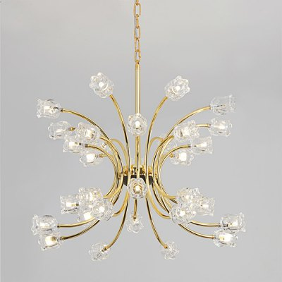 ZG9054 - 32 Glass Rose Flower Chandelier Ceiling LightChandelier<br>ZG9054 - 32 Glass Rose Flower Chandelier Ceiling Light<br><br>Bulb Base Type: E14, E12<br>Bulb Included: Yes<br>Function: Studio and Exhibition Lighting, Commercial Lighting, Home Lighting<br>Package Contents: 1 x Hanging Ceiling Light<br>Package size (L x W x H): 42.50 x 39.00 x 26.50 cm / 16.73 x 15.35 x 10.43 inches<br>Package weight: 8.2200 kg<br>Product weight: 7.5000 kg<br>Sheathing Material: Iron<br>Style: Trendy, Modern/Contemporary, Office/Business<br>Type: Pendants, Chandeliers<br>Voltage (V): AC 110-120V,AC 220-240