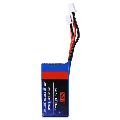 Original dys 600mAh 7.4V 2S 25C LiPo BatteryBattery<br>Original dys 600mAh 7.4V 2S 25C LiPo Battery<br><br>Battery (mAh): 600mAh<br>Battery Coulomb: 25C<br>Brand: DYS<br>Charging Time.: about 1 hour<br>Flying Time: 5~6mins<br>Package Contents: 1 x Battery<br>Package size (L x W x H): 5.70 x 3.20 x 2.50 cm / 2.24 x 1.26 x 0.98 inches<br>Package weight: 0.0420 kg<br>Product size (L x W x H): 4.70 x 2.20 x 1.50 cm / 1.85 x 0.87 x 0.59 inches<br>Product weight: 0.0310 kg<br>Type: Battery