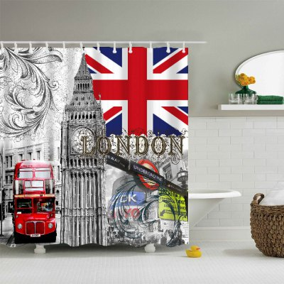 London Waterproof Bath Shower CurtainOther Bathroom Accessories<br>London Waterproof Bath Shower Curtain<br><br>Package Contents: 1 x Bath Curtain, 12 x Hook<br>Package size (L x W x H): 25.80 x 21.70 x 4.00 cm / 10.16 x 8.54 x 1.57 inches<br>Package weight: 0.4220 kg