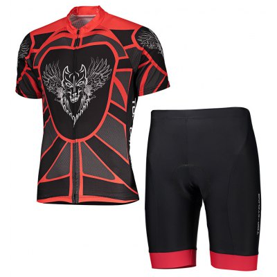 TOP CYCLING Quick-drying Cycling Suit with Silicone Cushion