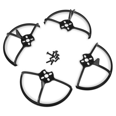 Impact-resistant PC Propeller Guard 4pcs / setMulti Rotor Parts<br>Impact-resistant PC Propeller Guard 4pcs / set<br><br>Package Contents: 4 x Propeller Guard, 1 x Set of Screws<br>Package size (L x W x H): 12.00 x 15.00 x 4.00 cm / 4.72 x 5.91 x 1.57 inches<br>Package weight: 0.0300 kg<br>Product weight: 0.0060 kg<br>Type: Protective Frame