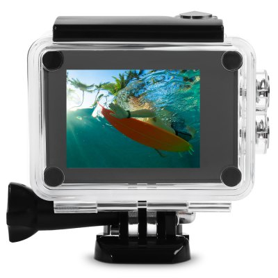 SO91 4K UHD WiFi Action Camera Ambarella A12 ChipsetAction Cameras<br>SO91 4K UHD WiFi Action Camera Ambarella A12 Chipset<br><br>Aerial Photography: Yes<br>Anti-shake: Yes<br>Application: Aerial Photography, Extreme Sports, Underwater, Ski<br>Audio System: Built-in microphone/speaker (AAC)<br>Auto Focusing: No<br>Battery Capacity (mAh): 1050mAh<br>Battery Type: Removable<br>Camera Timer: Yes<br>Charge way: USB charge by PC<br>Charging Time: About 3h<br>Chipset: Ambarella A12LS75<br>Chipset Name: Ambarella<br>Delay Shutdown : Yes<br>Features: Wireless<br>Function: Camera Timer, Motion Detection, Loop-cycle Recording, Anti-Shake<br>HDMI Output: Yes<br>Image Format : JPEG<br>ISO: Auto,ISO100,ISO1600,ISO200,ISO400,ISO800<br>Language: Arabic,English,French,German,Italian,Japanese,Korean,Polish,Portuguese,Russian,Simplified Chinese,Spanish,Traditional Chinese<br>Lens Diameter: 17mm<br>Loop-cycle Recording : Yes<br>Loop-cycle Recording Time: 1min,2min,3min,5min<br>Max External Card Supported: TF 64G (not included)<br>Microphone: Built-in<br>Model: SO91<br>Motion Detection: Yes<br>Night vision : No<br>Package Contents: 1 x Action Camera with Waterproof Case, 1 x Transparent Backdoor, 2 x Helmet Mount, 1 x USB Data Cable ( 92cm ), 1 x Bicycle Stand, 2 x Adhesive, 1 x Metal Cable Tie, 4 x Plastic Cable Tie, 3 x Connec<br>Package size (L x W x H): 26.00 x 14.00 x 7.50 cm / 10.24 x 5.51 x 2.95 inches<br>Package weight: 0.7510 kg<br>Product size (L x W x H): 6.00 x 4.20 x 3.00 cm / 2.36 x 1.65 x 1.18 inches<br>Product weight: 0.0780 kg<br>Screen: With Screen<br>Screen resolution: 960 x 240<br>Screen size: 2.0inch<br>Sensor: CMOS<br>Sensor size (inch): 1/2.3<br>Standby time: 120 - 160 minutes<br>Time lapse: Yes<br>Type: Sports Camera<br>Type of Camera: 4K<br>Video format: MP4<br>Video Frame Rate: 120fps,30FPS,60FPS<br>Video Resolution: 1080P (120fps),1080P(30fps),1080P(60fps),2.7K (30fps),4K (30fps),720P (120fps),720P (30fps),720P (60fps)<br>Video System: NTSC,PAL<br>Water Resistant: 40m ( with waterproof case )<br>Waterproof: Yes<br>Waterproof Rating : IPX7<br>White Balance Mode: Auto, Cloudy, D4000, Sunny, D5000, Daylight, Fluorescent, Incandescent, Tungsten, Underwater<br>Wide Angle: 166 degree wide angle lens<br>WIFI: Yes<br>WiFi Distance : 10 - 30m<br>Working Time: 60 - 80 minutes
