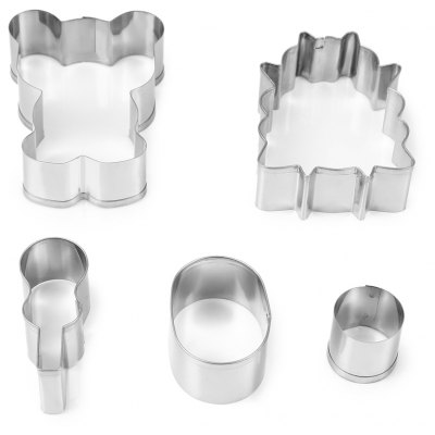 5PCS Stainless Steel Cookie Cutter