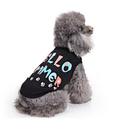 HELLOW SUMMER Cotton Pet Dog Clothes Tee CostumeDog Clothing &amp; Shoes<br>HELLOW SUMMER Cotton Pet Dog Clothes Tee Costume<br><br>For: Dogs<br>Material: Cotton<br>Package Contents: 1 x Dog Clothes<br>Package size (L x W x H): 25.20 x 22.70 x 1.10 cm / 9.92 x 8.94 x 0.43 inches<br>Package weight: 0.0510 kg<br>Season: Autumn, Spring, Summer<br>Size: XS