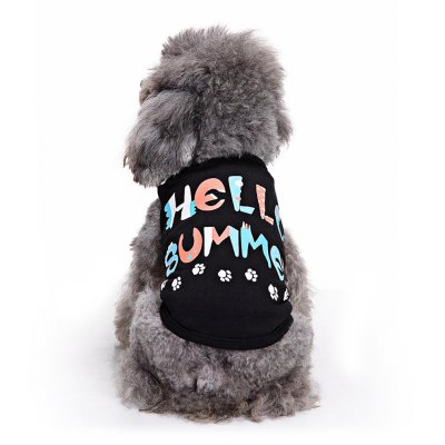 HELLOW SUMMER Cotton Pet Dog Clothes Tee Costume