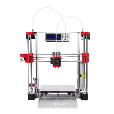 Zonestar P802QR2 Double Extruders 3D Printer DIY Kit3D Printers, 3D Printer Kits<br>Zonestar P802QR2 Double Extruders 3D Printer DIY Kit<br><br>Brand: ZONESTAR<br>Certificate: CE,FCC,RoHs<br>File format: STL, OBJ, G-code<br>Frame material: Sheet-metal structure<br>Host computer software: Repetier-Host<br>Language: Chinese,English,Portuguese,Spanish<br>Layer thickness: 0.1-0.36mm<br>Material diameter: 1.75mm<br>Memory card offline print: SD card<br>Model: P802QR2<br>Nozzle diameter: 0.4mm<br>Nozzle temperature: 170-275 Degree<br>Package size: 48.00 x 45.00 x 20.00 cm / 18.9 x 17.72 x 7.87 inches<br>Package weight: 10.5500 kg<br>Packing Contents: 1 x Zonestar P802QR2 3D Printer DIY Kit<br>Packing Type: unassembled packing<br>Print speed: Max 150mm/s<br>Product forming size: 220 x 220 x 240mm<br>Product size: 46.00 x 42.00 x 42.00 cm / 18.11 x 16.54 x 16.54 inches<br>Product weight: 7.6000 kg<br>Supporting material: Flexible PLA, Wood, PLA, PVA, PETG, ABS<br>System support: Windows,  Linux,  Mac.<br>Type: DIY<br>Voltage Range: 100 - 220V<br>Working Power: 250W<br>XY-axis positioning accuracy: 0.012mm<br>Z-axis positioning accuracy: 0.0025mm