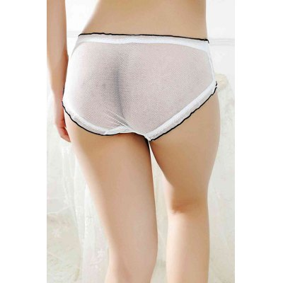 Women Sheer Mesh Sexy PantiesBottoms<br>Women Sheer Mesh Sexy Panties<br><br>Material: Nylon, Spandex<br>Package Contents: 1 x Underwear<br>Package size: 15.00 x 15.00 x 2.00 cm / 5.91 x 5.91 x 0.79 inches<br>Package weight: 0.0500 kg<br>Product weight: 0.0200 kg