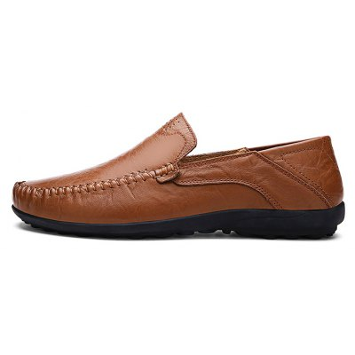 Summer Fashion Cowhide Men Casual Leather Shoes