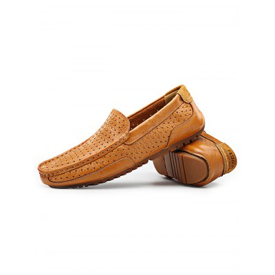Breathable Slip-on Men Casual Leather ShoesCasual Shoes<br>Breathable Slip-on Men Casual Leather Shoes<br><br>Contents: 1 x Pair of Shoes<br>Materials: Leather<br>Occasion: Casual, Daily<br>Package Size ( L x W x H ): 34.00 x 23.00 x 12.00 cm / 13.39 x 9.06 x 4.72 inches<br>Package Weights: 0.88<br>Seasons: Autumn,Spring,Summer<br>Style: Leisure, Comfortable<br>Type: Casual Shoes
