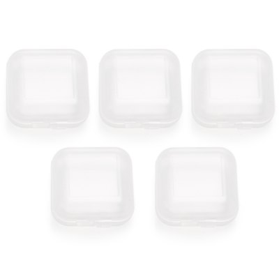 Earbud Tips Storage Box - 5 Cases for One PacketHeadphone Accessories<br>Earbud Tips Storage Box - 5 Cases for One Packet<br><br>Package Contents: 5 x Storage Box<br>Package size (L x W x H): 16.00 x 11.00 x 4.00 cm / 6.3 x 4.33 x 1.57 inches<br>Package weight: 0.0440 kg<br>Product size (L x W x H): 3.50 x 3.40 x 1.60 cm / 1.38 x 1.34 x 0.63 inches<br>Product weight: 0.0040 kg