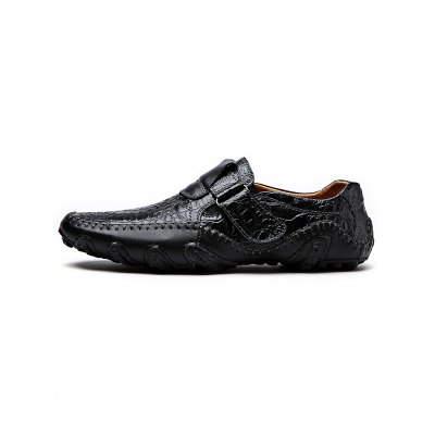 Casual Slip-on Men Leather ShoesCasual Shoes<br>Casual Slip-on Men Leather Shoes<br><br>Contents: 1 x Pair of Shoes<br>Materials: Genuine Leather<br>Occasion: Casual, Daily<br>Package Size ( L x W x H ): 34.00 x 23.00 x 12.00 cm / 13.39 x 9.06 x 4.72 inches<br>Package Weights: 0.97<br>Seasons: Autumn,Spring,Summer<br>Style: Leisure, Fashion, Comfortable<br>Type: Casual Shoes
