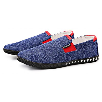 Breathable Canvas Slip-on Men Casual Shoes