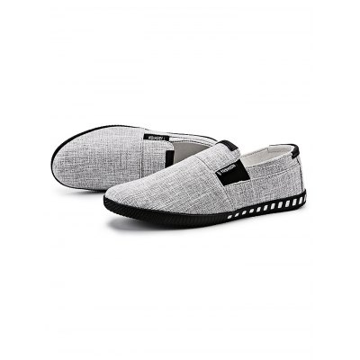 Breathable Canvas Slip-on Men Casual ShoesCasual Shoes<br>Breathable Canvas Slip-on Men Casual Shoes<br><br>Contents: 1 x Pair of Shoes<br>Materials: Canvas<br>Occasion: Casual, Daily<br>Package Size ( L x W x H ): 33.00 x 23.00 x 13.00 cm / 12.99 x 9.06 x 5.12 inches<br>Package Weights: 0.68<br>Seasons: Autumn,Spring,Summer<br>Style: Leisure, Fashion, Comfortable<br>Type: Casual Shoes