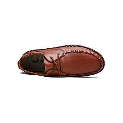 Lace-up Handmade Stylish Casual Leather ShoesCasual Shoes<br>Lace-up Handmade Stylish Casual Leather Shoes<br><br>Contents: 1 x Pair of Shoes<br>Materials: Leather<br>Occasion: Casual, Daily<br>Package Size ( L x W x H ): 34.00 x 23.00 x 12.00 cm / 13.39 x 9.06 x 4.72 inches<br>Package Weights: 0.93<br>Seasons: Autumn,Spring,Summer<br>Style: Leisure, Fashion, Comfortable<br>Type: Casual Shoes