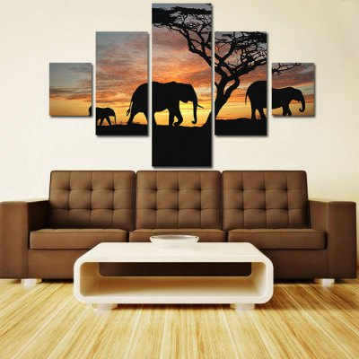 5PCS Elephants Printed Canvas Wall Sticker WallpaperWall Stickers<br>5PCS Elephants Printed Canvas Wall Sticker Wallpaper<br><br>Art Style: Oil Paiting<br>Material: Canvas<br>Package Contents: 5 x Sticker<br>Package size (L x W x H): 35.00 x 6.00 x 6.00 cm / 13.78 x 2.36 x 2.36 inches<br>Package weight: 0.2640 kg<br>Product weight: 0.1740 kg<br>Subjects: Animal