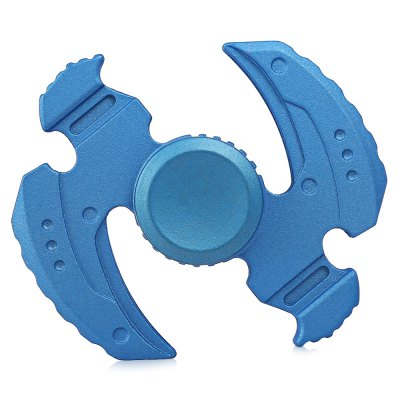 Two-blade Sickle Shape Zinc Alloy Fidget SpinnerFidget Rollers<br>Two-blade Sickle Shape Zinc Alloy Fidget Spinner<br><br>Color: Blue<br>Frame material: Zinc Alloy<br>Package Contents: 1 x Fidget Spinner<br>Package size (L x W x H): 10.00 x 12.00 x 2.30 cm / 3.94 x 4.72 x 0.91 inches<br>Package weight: 0.0900 kg<br>Product size (L x W x H): 6.40 x 6.00 x 1.30 cm / 2.52 x 2.36 x 0.51 inches<br>Product weight: 0.0680 kg<br>Swing Numbers: 2<br>Type: Dual Blade