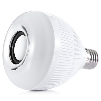 YouOKLight E27 12W Bluetooth Music BulbSmart Lighting<br>YouOKLight E27 12W Bluetooth Music Bulb<br><br>Available Light Color: RGB + White<br>Features: Bluetooth, Lightweight<br>Function: Commercial Lighting<br>Holder: E27<br>Output Power: 12W<br>Package Contents: 1 x YouOKLight Bluetooth Music Bulb, 1 x Remote Control, 1 x English User Manual<br>Package size (L x W x H): 10.00 x 10.00 x 14.00 cm / 3.94 x 3.94 x 5.51 inches<br>Package weight: 0.2700 kg<br>Product weight: 0.2000 kg<br>Sheathing Material: Aluminum Alloy, Plastic<br>Voltage (V): AC 100-240V
