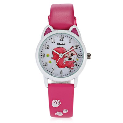 KEZZI K - 1618 Cool Shaped Dial Kid Quartz WatchKids Watches<br>KEZZI K - 1618 Cool Shaped Dial Kid Quartz Watch<br><br>Band material: Leather<br>Band size: 21.00 x 1.30 cm / 8.27 x 0.51 inches<br>Case material: Alloy<br>Clasp type: Pin buckle<br>Dial size: 2.50 x 2.50 x 0.80 cm / 0.98 x 0.98 x 0.31 inches<br>Display type: Analog<br>Movement type: Quartz watch<br>Package Contents: 1 x KEZZI Child Quartz Watch<br>Package size (L x W x H): 24.00 x 4.00 x 2.00 cm / 9.45 x 1.57 x 0.79 inches<br>Package weight: 0.0520 kg<br>Product size (L x W x H): 21.00 x 2.50 x 0.80 cm / 8.27 x 0.98 x 0.31 inches<br>Product weight: 0.0210 kg<br>Shape of the dial: Round<br>Watch style: Casual<br>Watches categories: Children table<br>Wearable length: 14.00 - 19.00 cm / 5.51 - 7.48 inches