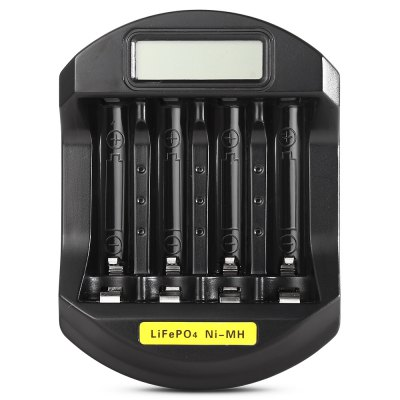 Soshine LCD Battery ChargerChargers<br>Soshine LCD Battery Charger<br><br>Brand: Soshine<br>Charging Cell Type: LiFePO4<br>Compatible: 10440, 14500, AAA, AAAA<br>Input Current: 600mA<br>Input Voltage: DC 12V<br>Output Current: 500mA;250mA;150mA<br>Output Voltage: 1.4V;3.6V<br>Package Contents: 1 x Soshine Quick Battery Charger, 1 x US Plug, 1 X Mico USB Cable<br>Package size (L x W x H): 21.35 x 12.35 x 5.84 cm / 8.41 x 4.86 x 2.3 inches<br>Package weight: 0.2280 kg<br>Plug: US adapter<br>Product size (L x W x H): 9.68 x 7.20 x 2.52 cm / 3.81 x 2.83 x 0.99 inches<br>Product weight: 0.1750 kg<br>Type: Charger