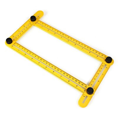 Angle-izer Template Tool Square RulerOther Instruments<br>Angle-izer Template Tool Square Ruler<br><br>For: Adults, Men, Women<br>Material: Plastic<br>Occasion: Home, Outdoor<br>Package Contents: 1 x Ruler<br>Package size (L x W x H): 37.00 x 11.00 x 3.50 cm / 14.57 x 4.33 x 1.38 inches<br>Package weight: 0.2160 kg<br>Product size (L x W x H): 17.80 x 30.00 x 2.50 cm / 7.01 x 11.81 x 0.98 inches<br>Product weight: 0.0820 kg<br>Type: Practical