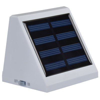 2 LEDs Light Controlled Garden Solar Powered Wall LampOutdoor Lights<br>2 LEDs Light Controlled Garden Solar Powered Wall Lamp<br><br>Battery Capacity: AA 1.2V 900mA Ni-MH battery<br>Battery Voltage: 1.2V<br>Charging Time: 8 hours<br>Features: Light Control<br>Light Type: Outdoor Light,Solar Light<br>Luminous Flux: 12LM<br>Material: ABS<br>Optional Light Color: Green,Red,White,Yellow<br>Package Contents: 1 x Solar Powered Wall Light<br>Package size (L x W x H): 10.00 x 8.50 x 8.00 cm / 3.94 x 3.35 x 3.15 inches<br>Package weight: 0.1400 kg<br>Powered Source: Solar and Battery<br>Product size (L x W x H): 9.50 x 8.00 x 7.50 cm / 3.74 x 3.15 x 2.95 inches<br>Product weight: 0.1200 kg<br>Sensing Angle / Distance: 5m<br>Solar Panel : poly-silicon 2V / 130mAh 0.26W<br>Total LED: 2<br>Working Time: 8 hours