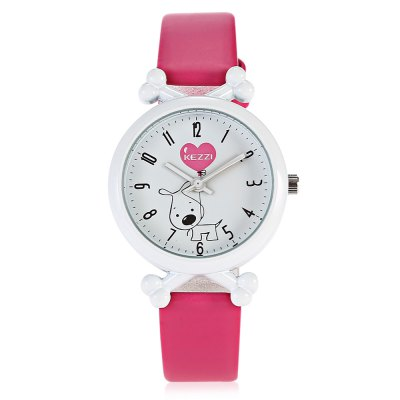 KEZZI K - 1645 Cool Shaped Dial Kid Quartz WatchKids Watches<br>KEZZI K - 1645 Cool Shaped Dial Kid Quartz Watch<br><br>Band material: Leather<br>Band size: 21.00 x 1.30 cm / 8.27 x 0.51 inches<br>Brand: Kezzi<br>Case material: Alloy<br>Clasp type: Pin buckle<br>Dial size: 3.00 x 3.00 x 0.80 cm / 1.18 x 1.18 x 0.31 inches<br>Display type: Analog<br>Movement type: Quartz watch<br>Package Contents: 1 x KEZZI Child Quartz Watch<br>Package size (L x W x H): 24.00 x 5.00 x 2.00 cm / 9.45 x 1.97 x 0.79 inches<br>Package weight: 0.0540 kg<br>Product size (L x W x H): 21.00 x 3.00 x 0.80 cm / 8.27 x 1.18 x 0.31 inches<br>Product weight: 0.0230 kg<br>Shape of the dial: Round<br>Watch style: Casual<br>Watches categories: Children table<br>Wearable length: 14.00 - 19.00 cm / 5.51 - 7.48 inches