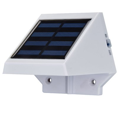 2 LEDs Light Controlled Garden Solar Powered Wall Lamp